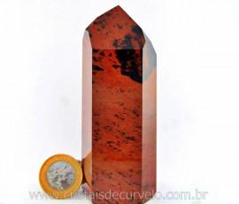 Ponta Obsidiana Mahogany ou Mogno Mineral Lava Vulcanica Natural Boa Qualidade Cod 283.3