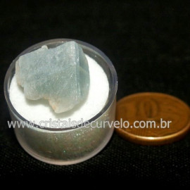 Calcita Azul do Mexico no Estojo Pedra Natural Cod 126647