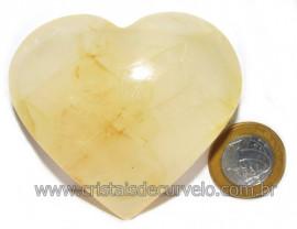 Coração Hematoide Amarelo Natural Presente Ideal Cod 116030