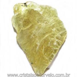 Chapa de Mica Amarela Bruta Natural de Garimpo Cod 115592