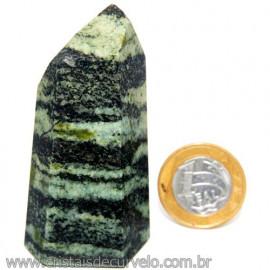 Ponta Pedra Quartzo Brasil Natural Gerador sextavado 113873