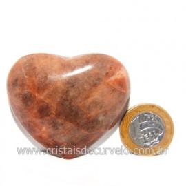 Coração Amazonita Pêssego Pedra Natural de Garimpo Cod 119062