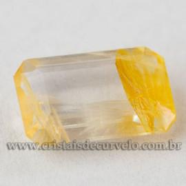 Hematoide Amarelo Baguette Facetado Gema Para Joias 112732