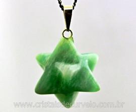 Merkaba Pedra Amazonita Verde Pedra Natural Pingente Argola Prata 950