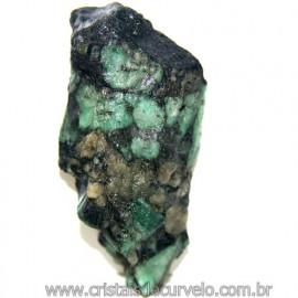 Esmeralda Canudo Incrustado no Xisto Pedra Bruta Cod 109959