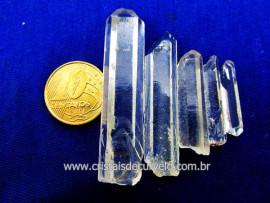 Cristal Laser Kit 5  Pedras Extra Quartzo Transparente Longo e Fino REF 20.5