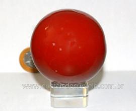 Esfera Jaspe Vermelho Pedra Natural Mineral de Rocha Lapidado Manual Cod 289.3