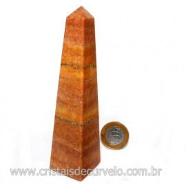 OBELISCO Quartzo Vermelho Pedra Natural Lapidação Manual 122700