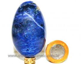 Ovo Sodalita Azul Pedra Natural Lapidado Manual cod OS5230