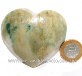 Coraçao Jade Verde Natural Origem Montes Claros MG Cod 121626