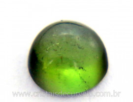 Gema Turmalina Verde Lisa Pedra Natural 0.4ct 4mm Reff TV7159