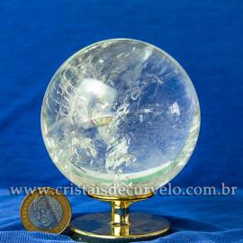 Bola de Cristal Pedra Extra Esfera Quartzo Transparente 112873