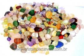 Pedra Rolado PEQUENO Pacote MISTO 1kg Pedra Comum REF MP7899