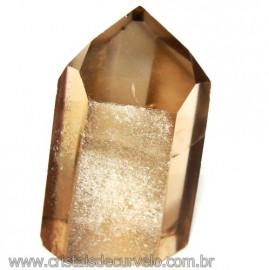Ponta Citrino Natural e Fume Pedra Quartzo Bi Color 109287