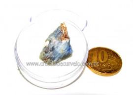 Safira Corindon Mineral Natural Estojo Colecionar Cod SC6474