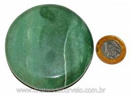 Massageador Disco Quartzo Verde Pedra Natural Cod 103307