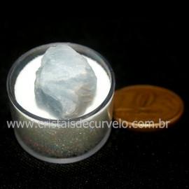 Calcita Azul do Mexico no Estojo Pedra Natural Cod 126652
