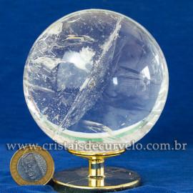 Bola de Cristal Pedra Extra Esfera Quartzo Transparente 112875