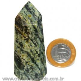 Ponta Pedra Quartzo Brasil Natural Gerador sextavado 113880