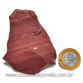 Dolomita Vermelha Pedra Natural Bruto de Garimpo Cod 116155