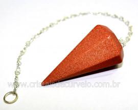 Pendulo Pedra do sol Para Radiestesia Lapidação Facetado Brinde Corrente