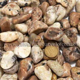1kg Turmalina Preta no Feldspato Natural Rolado Tamanho Médio