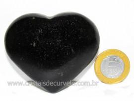 Coração Quartzo Preto Quartzito Negro Pedra Natural Cod CP8691