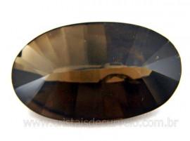 Gema Fumê Oval Facetado Montagem de Joias Finas Pedra Natural Cod GF5406