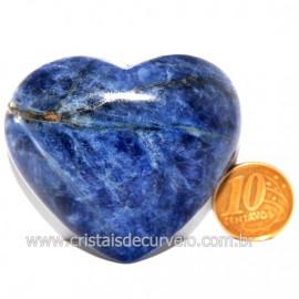 Coração Sodalita Pedra Azul Natural de Garimpo Cod 124091