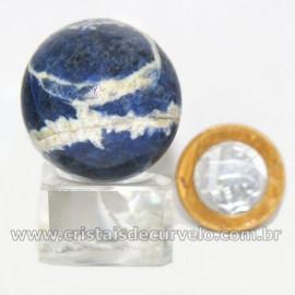 Esfera Sodalita Azul Bola Pedra Natural Garimpo Cod 126915