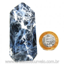Ponta Sodalita Pedra Natural Gerador Sextavado Cod 119953