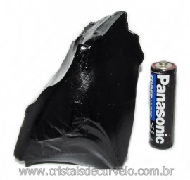 Obsidiana Negra Mineral Vulcanico Pedra Natural Cod 115859
