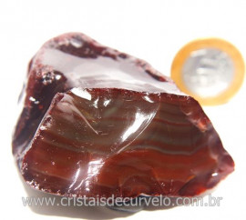 Ágata Cornalina Pedra Bruta Natural P/ Colecionar Cod 121347