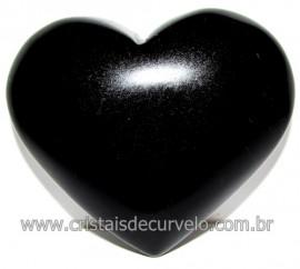 Coraçao de Obsidiana Negra Mineral Lava Vulcanica Cod 116318