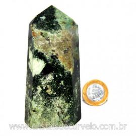 Ponta Malaquita Incrustado na Matriz Pedra do Sucesso Cod 127750