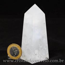 Obelisco Quartzo Leitoso Pedra Natural Lapidado Cod 112984