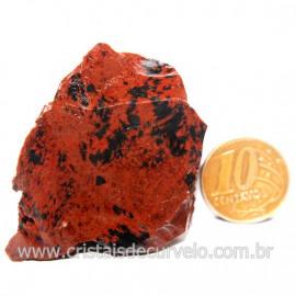 Obsidiana Mogno ou Mahogany Pedra Bruta Vulcanica Cod 127627