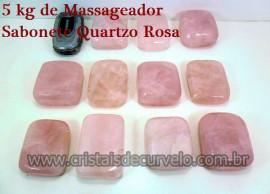 5 kg Massageador Sabonete Cristal Quartzo Rosa Massagem Terapeutica Com Pedras