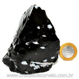 Obsidiana Flocos de Neve Pedra Vulcanica Natural Cod 114666