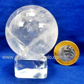 Bola Cristal Boa Qualidade Esfera Pedra Natural Cod 127555