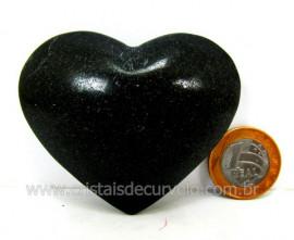 Coração De Quartzo Preto Quartzito Negro Pedra Natural Tamanho Medio Cod 133.8