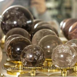 1 Kg Esferas de Fumê Bola Quartzo Esfumaçado Natural ATACADO