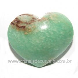 Coraçao Amazonita Verde Natural Ideal P/ Presente Cod 118245