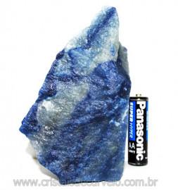 Quartzo Azul ou Aventurina Azul Bruto Natural Cod 110795
