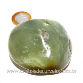 Massageador De Seixo Pedra Quartzo Verde Natural Cod 123842