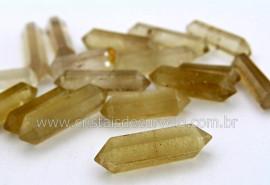 Bi Terminado Citrino Natural Pedra Extra Lapidado Tamanho Mini 3.5 Cm