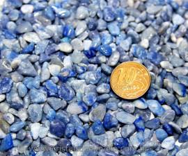Quartzo Azul Pedra Rolada Miúdo Pct 20Gr Reff 121067