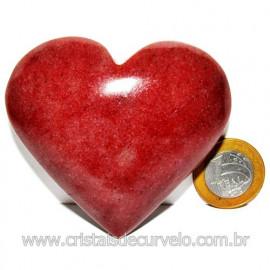 Coração Quartzo Vermelho Pedra Natural de Garimpo Cod 116021