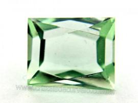 Obsidiana Verde Octagonal Gema Facetado Pra Joias Cod OG6450