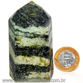 Ponta Pedra Quartzo Brasil Natural Gerador sextavado 113869